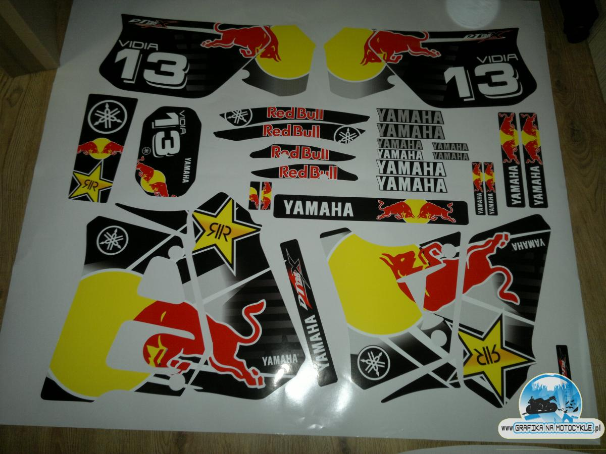 yamaha dt 125 redbull linegraf. Black Bedroom Furniture Sets. Home Design Ideas
