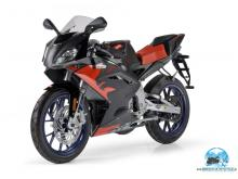 Aprilia RS 125 blackred 2008
