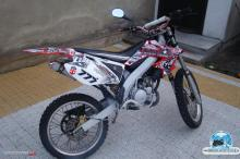 HONDA CR 125 2006 Rockstar red