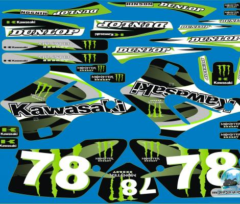Kawasaki KX 125 i 250 1994 - 1998  monster78green