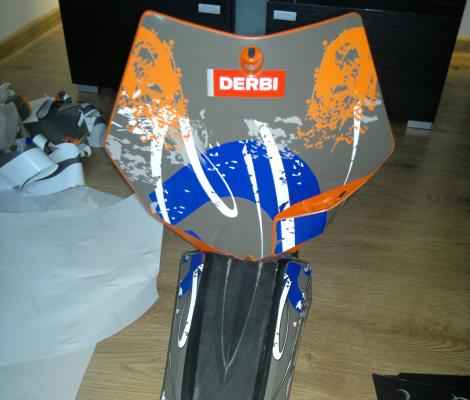 DERBI DRD orange indy